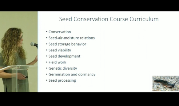 Screenshot from Lessons Learned from the Kew MSB Seed Conservation Techniques Training Course video