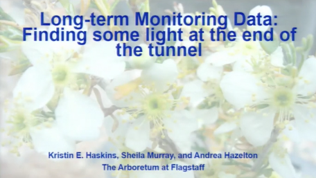 Screenshot from Long-term Monitoring Data: Finding Some Light at the End of the Tunnel video