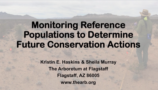 Screenshot of Monitoring wild reference populations to determine future conservation actions video