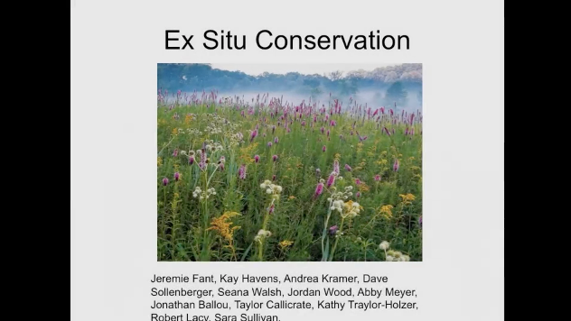 Screenshot from Challenges for ex situ collections: partnerships with the zoo community video