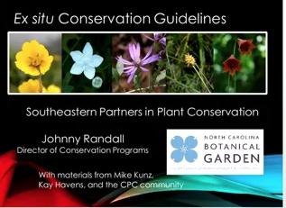 Screenshot from Ex Situ Conservation Guidelines: Linking Ex-Situ Collections to In-Situ Conservation Actions video