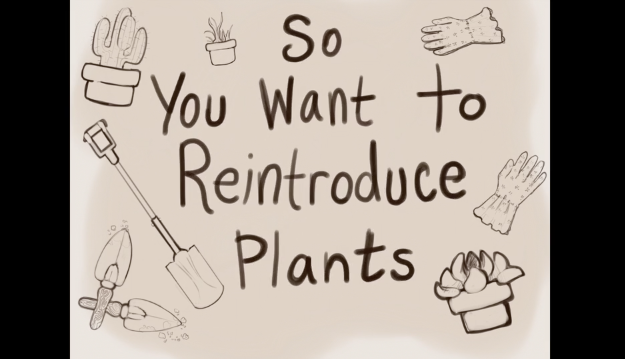 Screenshot of How to Conduct a Plant Reintroduction with the Help of Volunteers video