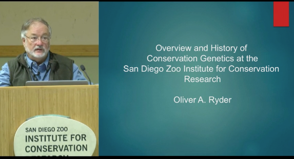 Screenshot of Conservation Genetics at the San Diego Zoo Institute for Conservation Research: A (personal) historical perspective video