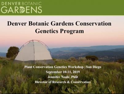 Screenshot of Denver Botanic Gardens Conservation Genetics Program video