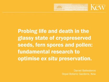 Screenshot of Probing Life and Death in the Glassy State of Cryopreserved Seeds, Fern Spores and Pollen video