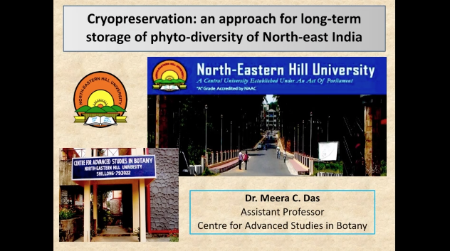 Screenshot of Cryopreservation: An Approach for Long-term Storage of Phyto-diversity Plants of North-East India video