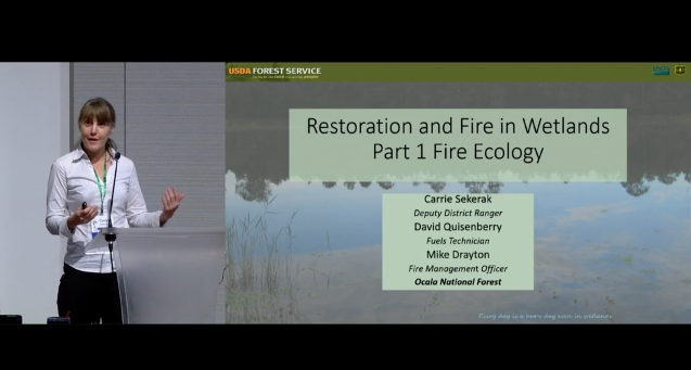 Video screenshot, restoration and fire ecology