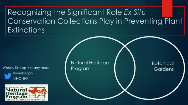 Video screenshot from Wesley M. Knapp, North Carolina Natural Heritage Program