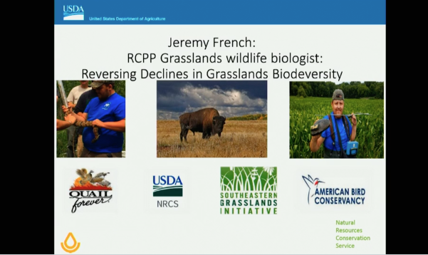 Screenshot of Reversing Declines of Grasslands Biodiversity with the Regional Conservation Partnership Program in the Interior Low Plateau Ecoregion video.
