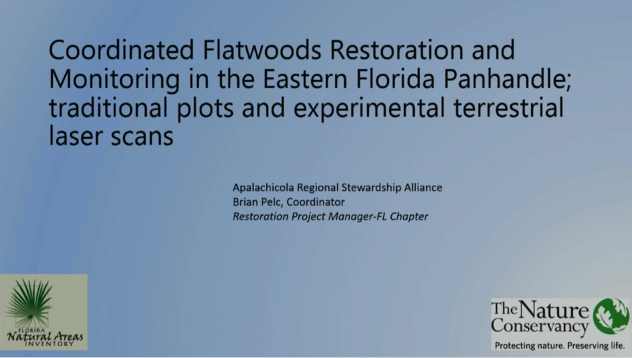Screenshot of Coordinated Flatwoods Restoration and Monitoring in the Eastern Florida Panhandle video.