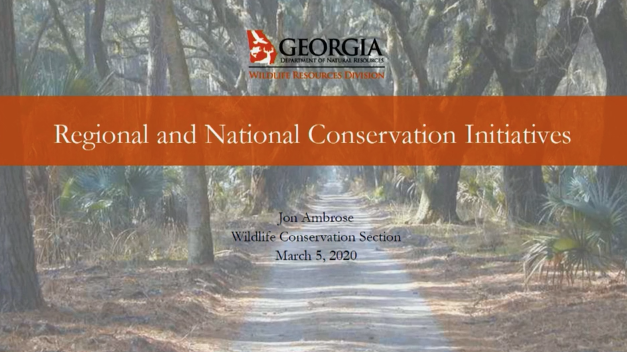 Screenshot of Regional and National Conservation Initiatives video.
