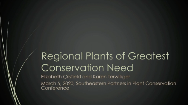 Screenshot of Regional Species of Greatest Conservation Need video.