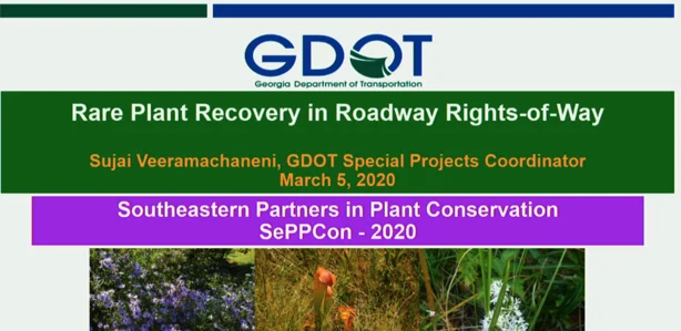 Screenshot of Rare Plant Recovery in Roadway Rights-of-Way video.
