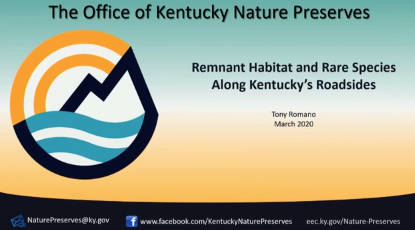 Screenshot of Roadside Remnant Communities and Rare Species Conservation in Kentucky video.