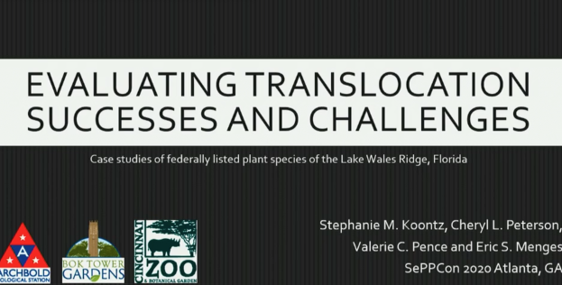 Screenshot of Evaluating Translocation Successes and Challenges video