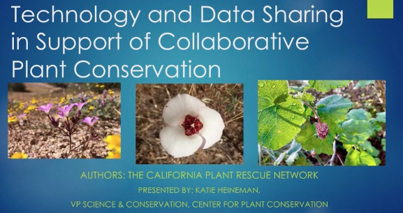Screenshot of Data Sharing in Support of Collaborative Plant Conservation video