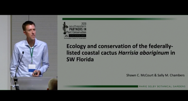 Screenshot of Ecology and Conservation of the Federally-Listed Coastal Cactus Harrisia aboriginum in SW Florida video