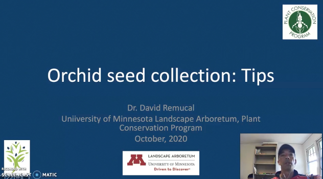 Screenshot of Collecting and Working with Orchid Seeds video.