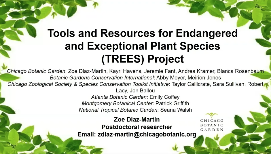 Screenshot of Tools and Resources for Endangered and Exceptional Plant Species (TREES) video