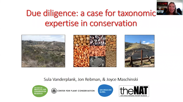 Screenshot of A Case for Taxonomic Expertise In Plant Conservation Video
