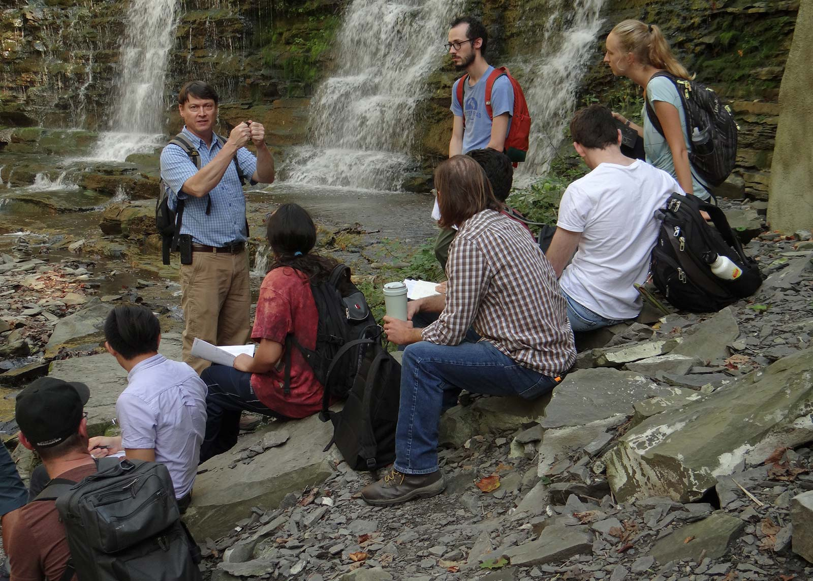 Todd teaching Restoration Ecology to Cornell students.