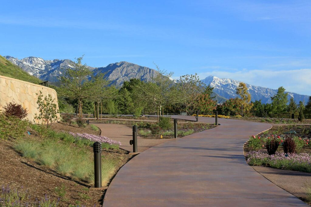 Photo of Red Butte Garden Water Saver Terrace with southern mountain view