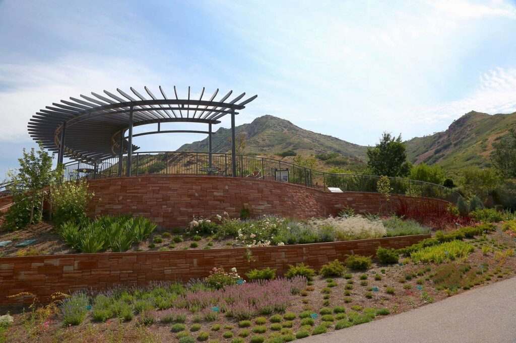 Photo of Red Butte Garden - Water wise Border and lower entry pavilion