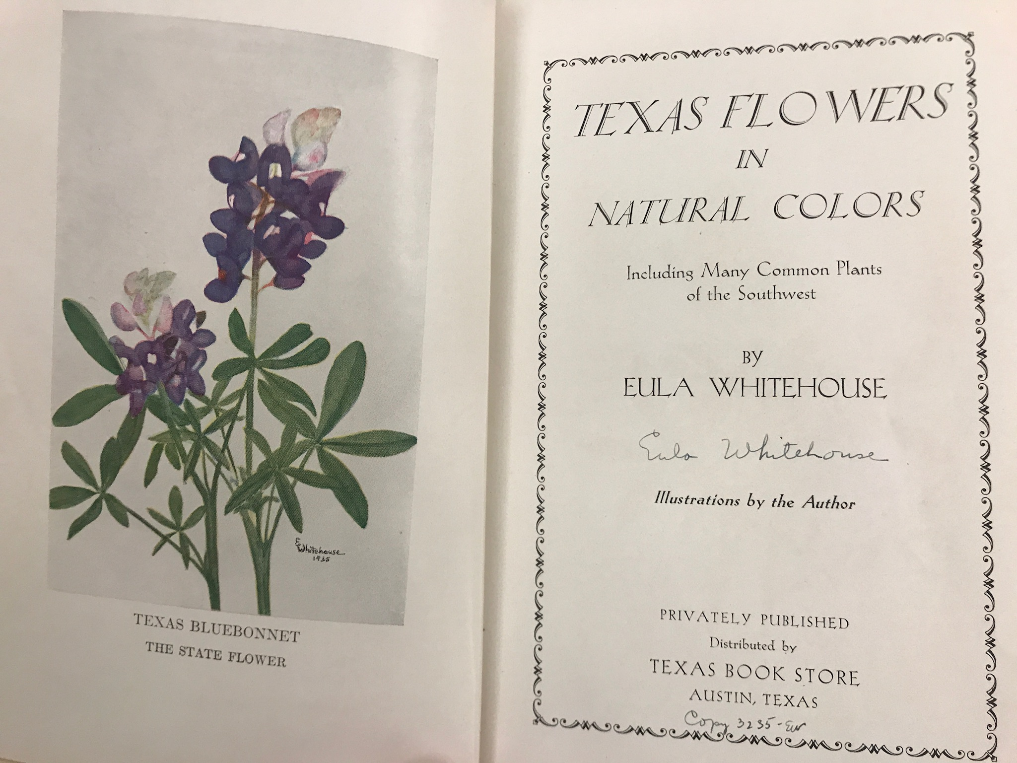 "Eula Whitehouse's book ""Texas Flowers in Natural Colors""."