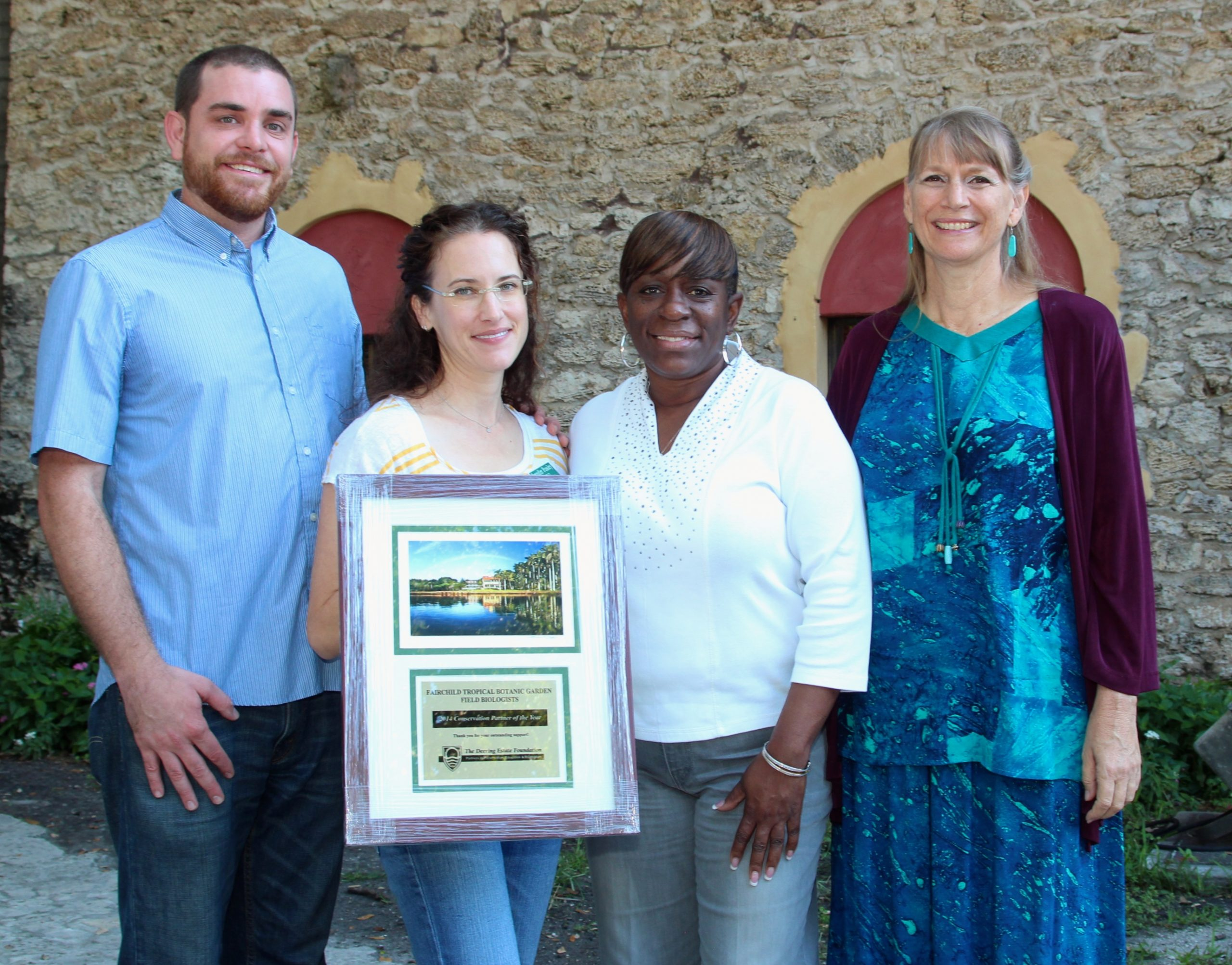 The Fairchild Tropical Botanic Garden field biologists earned the Conservation Partner of the Year Award from the Deering Estate Foundation under Joyce's leadership.