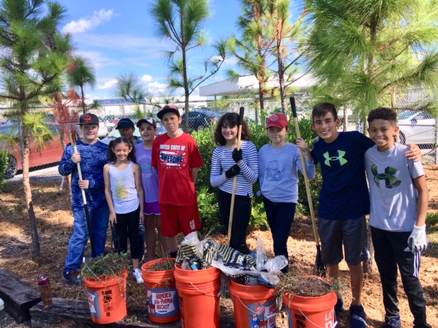 Several schools, including Palmetto Middle School, are members of the Connect to Protect Program. The students are active participants in maintaining these gardens and they also provide great opportunities for citizen science and practical learning.