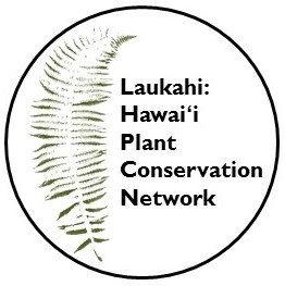 Laukahi: Hawai'i Plant Conservation Network logo.