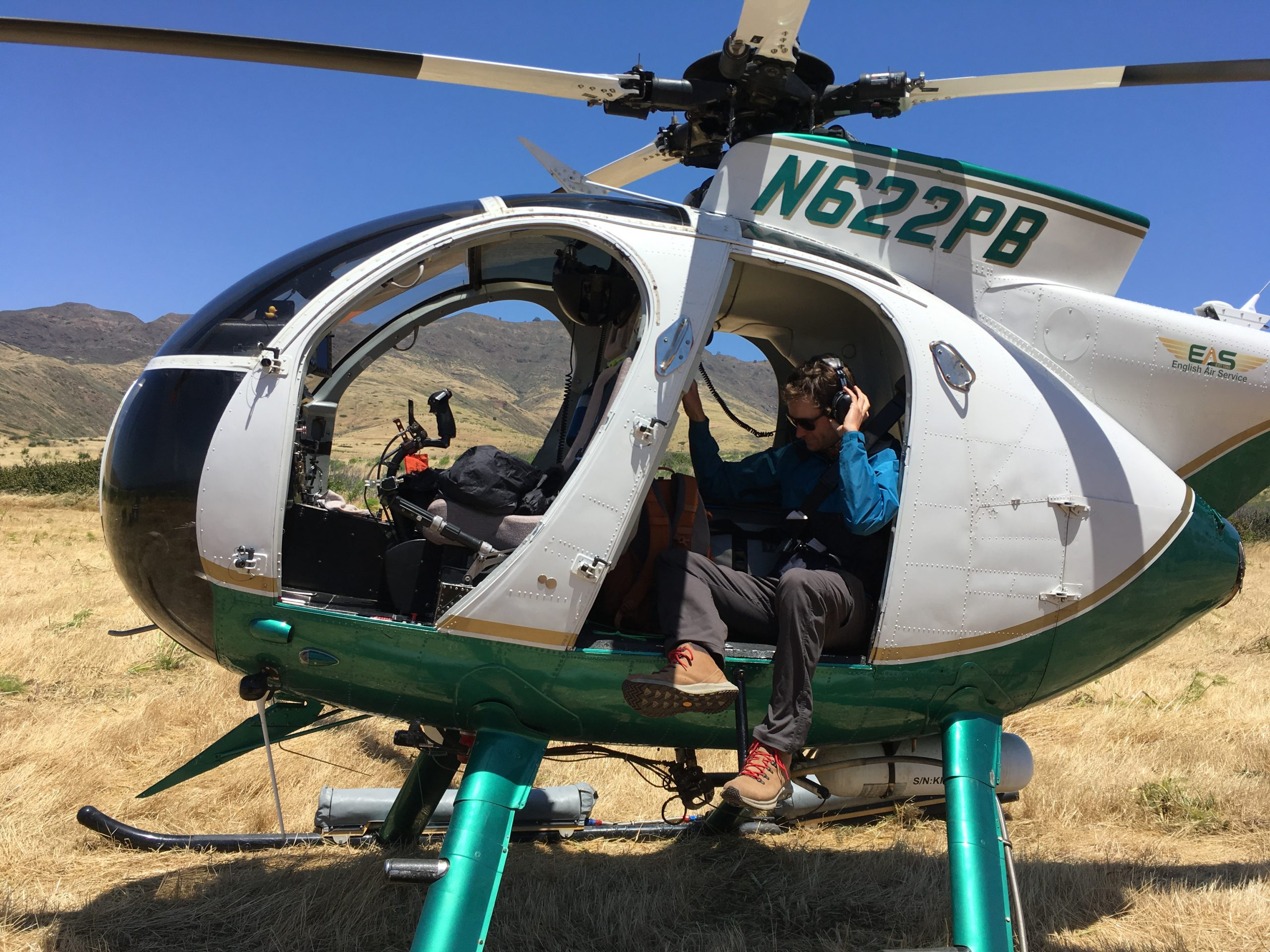 Sean Carson of the Santa Barbara Botanic Garden prepares for a day of helicopter-assisted surveys.