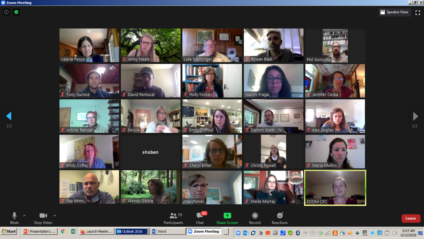 May 2020 Zoom meeting of plant conservationists.
