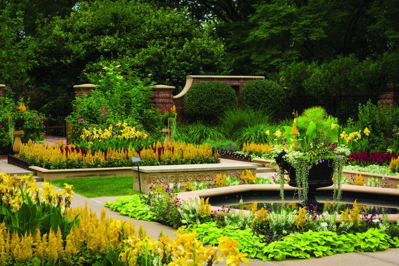The Hitchcock-Kountze Victorian Garden at Lauritzen Gardens.