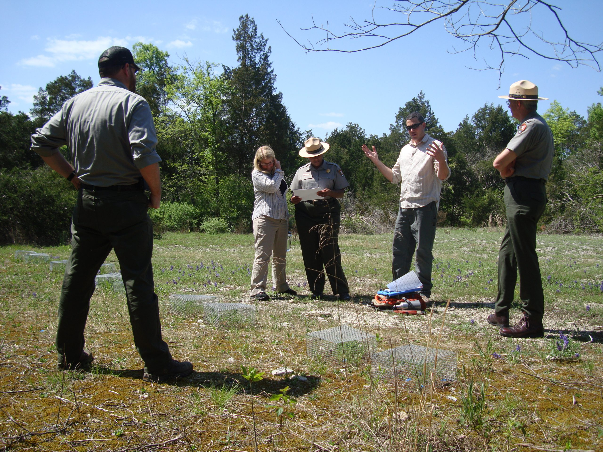 Dr. Albrecht shares his reintroduction work with U.S. Fish and Wildlife Service and National Park Service staff.