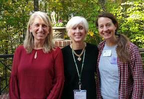 Dr. Jenny Cruse-Sanders (left), Garden Club of America's Mimsie Lanier (middle), and Jennifer Ceska (right)