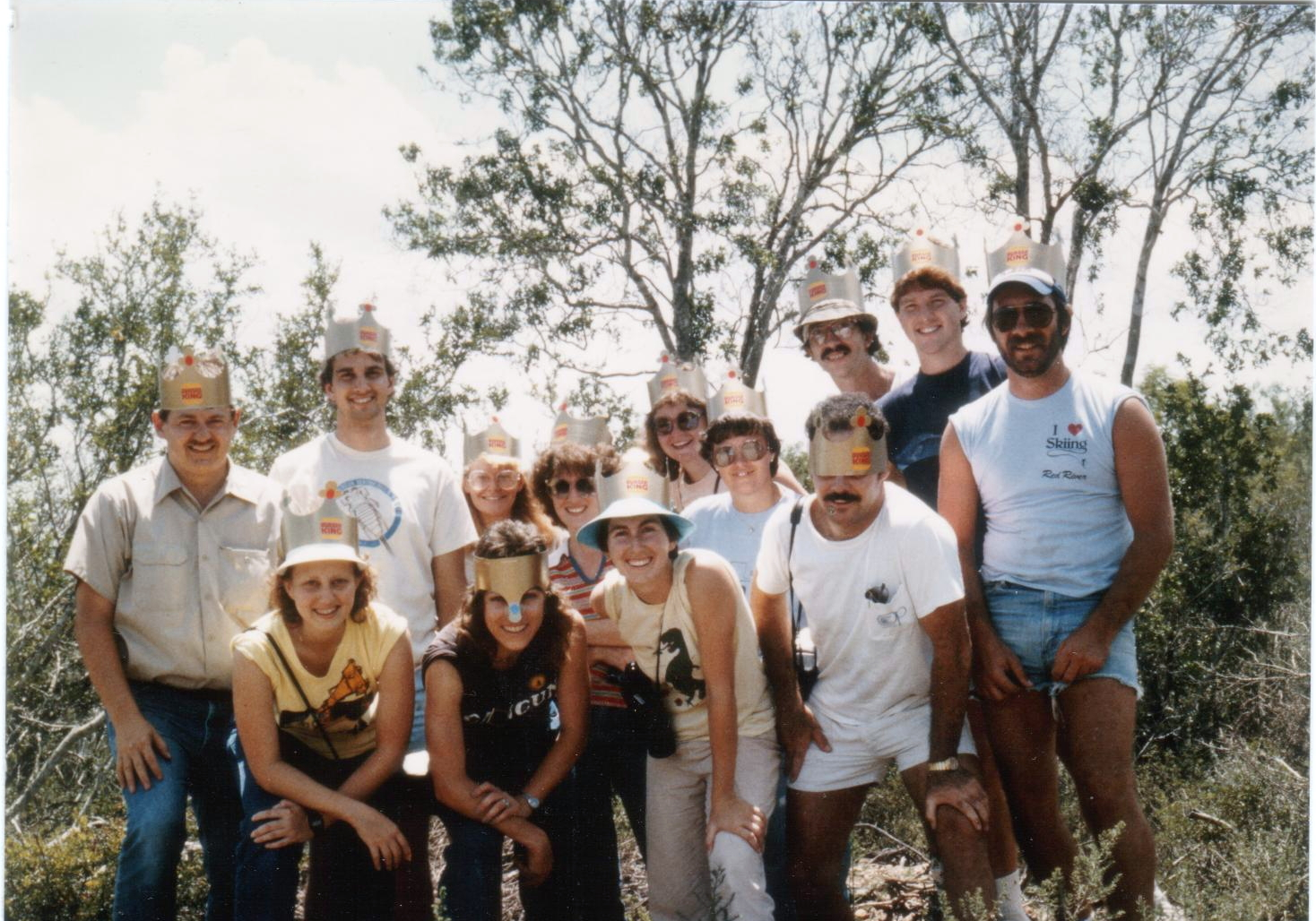 During his time at Texas State University, Dr. Schneider led field trips to the Rio Grande region of Texas to study rare and endangered plants, including this 1980 class.
