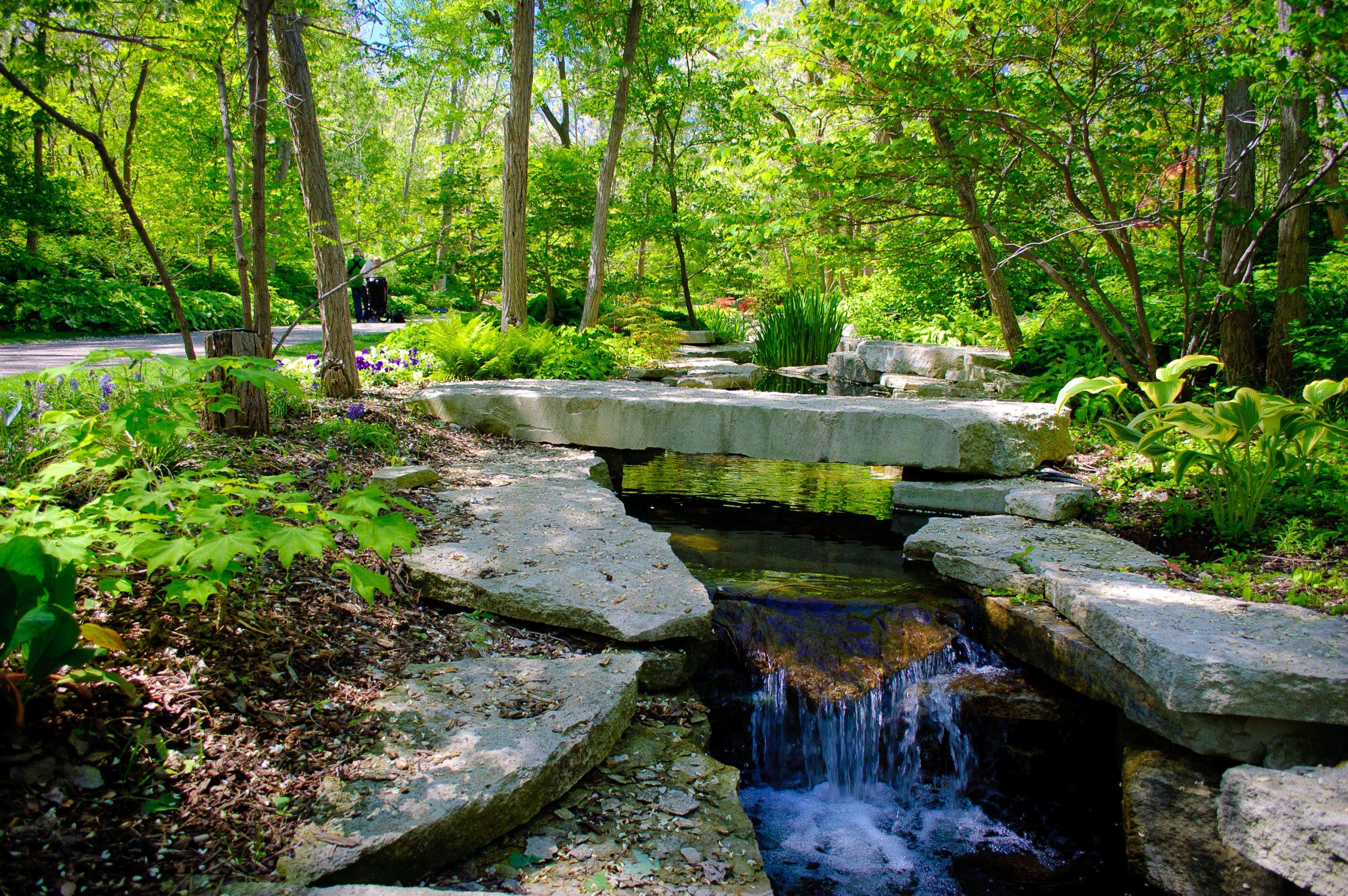 The Garden in the Glen at Lauritzen Gardens.