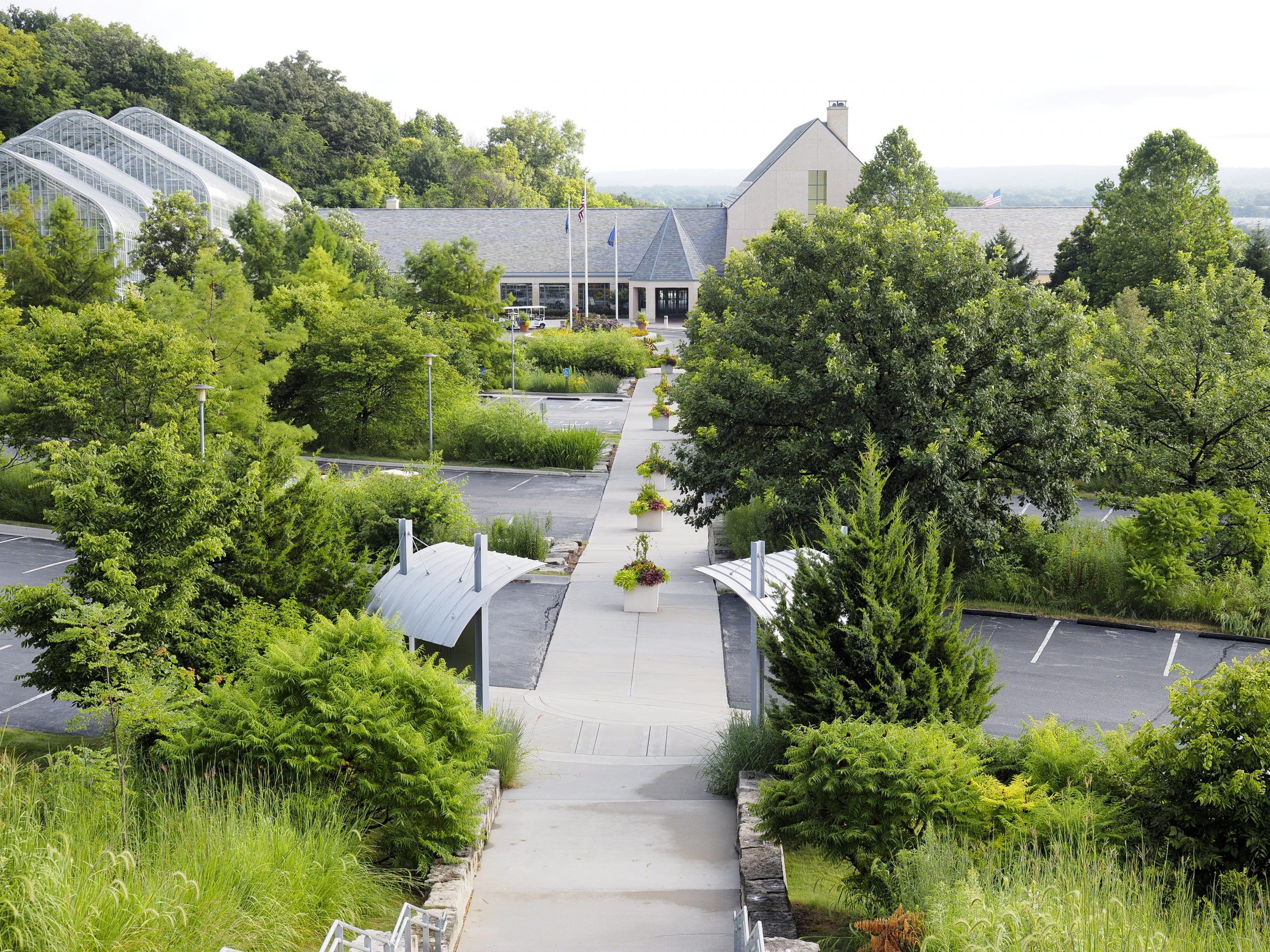 The Parking Garden at Lauritzen Gardens.