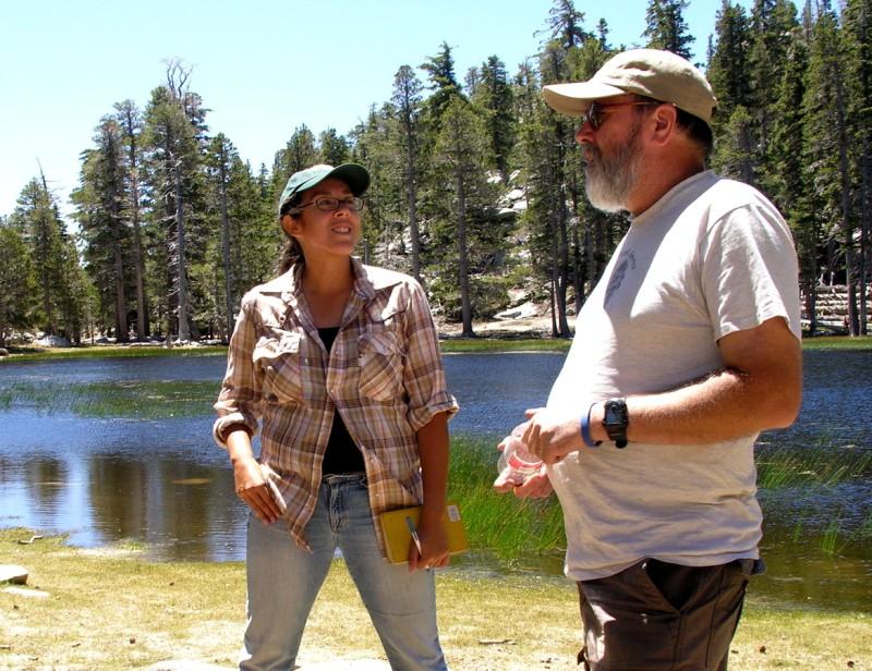 Image of Naomi Fraga and Steve Boyd at Hidden Lake.