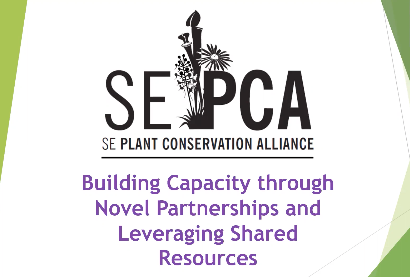 Screenshot from The Southeastern Plant Conservation Alliance - Building Capacity through Novel Partnerships and Leveraging Shared Resources video