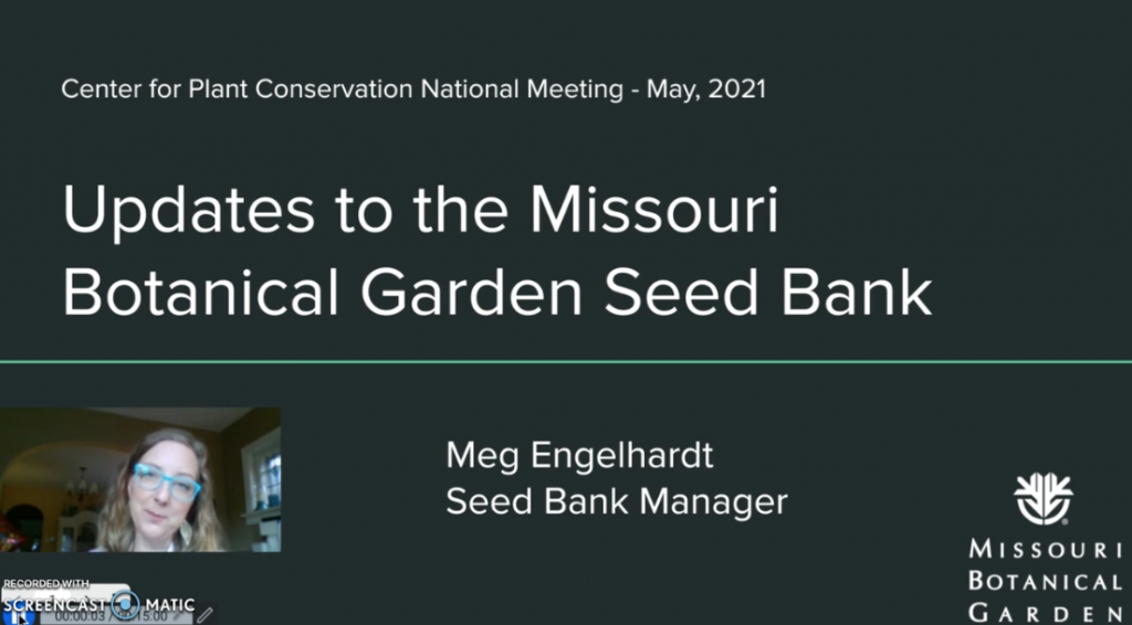 Screenshot fo Updates to the Missouri Botanical Garden Seed Bank video