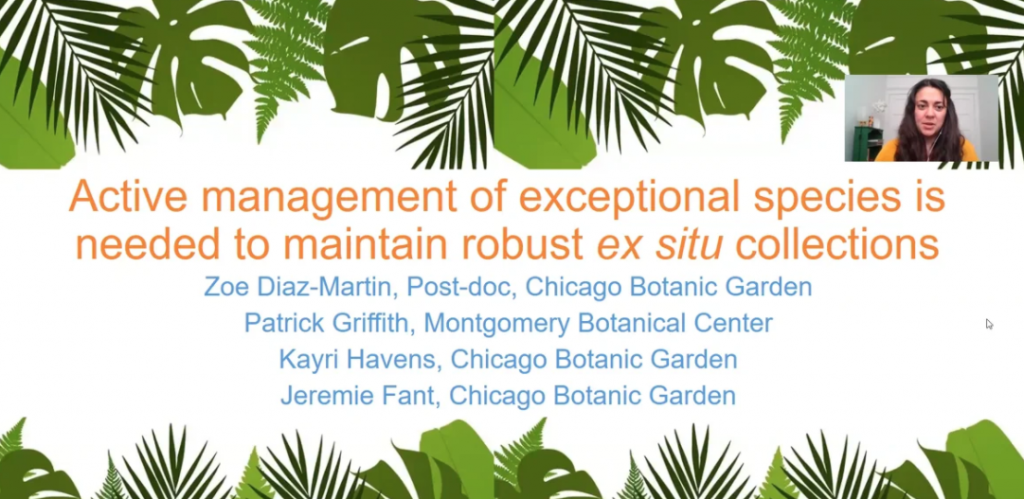 Screenshot from Active Management of Exceptional Species is Needed to Maintain Robust Ex situ Collections video
