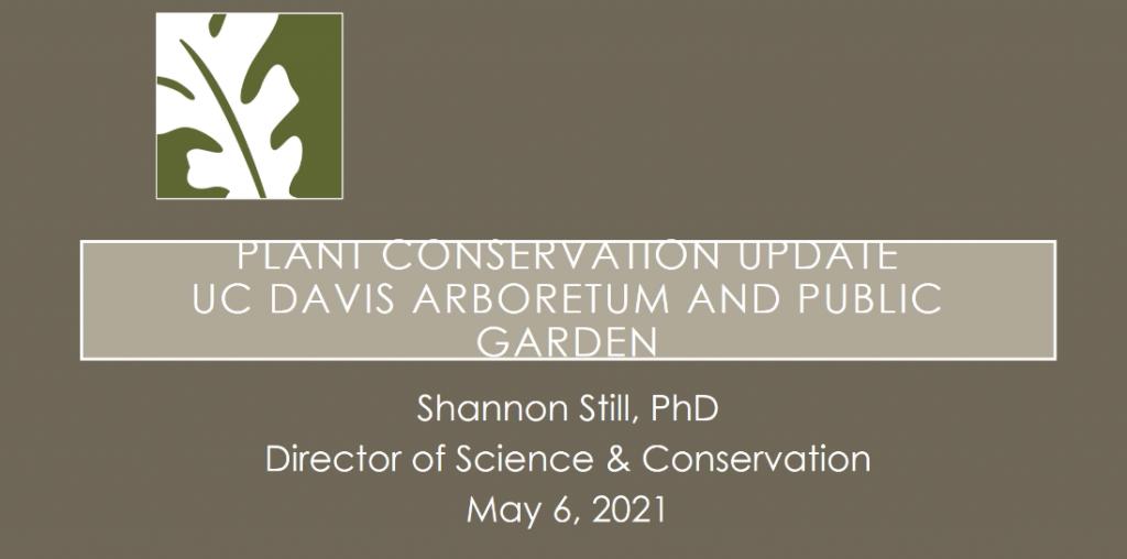 Screenshot from The Plant Conservation Program at UC Davis Arboretum & Public Garden video