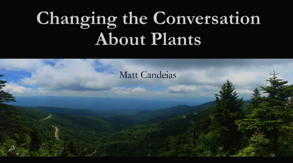 Screenshot of Changing the Conversation About Plants video.