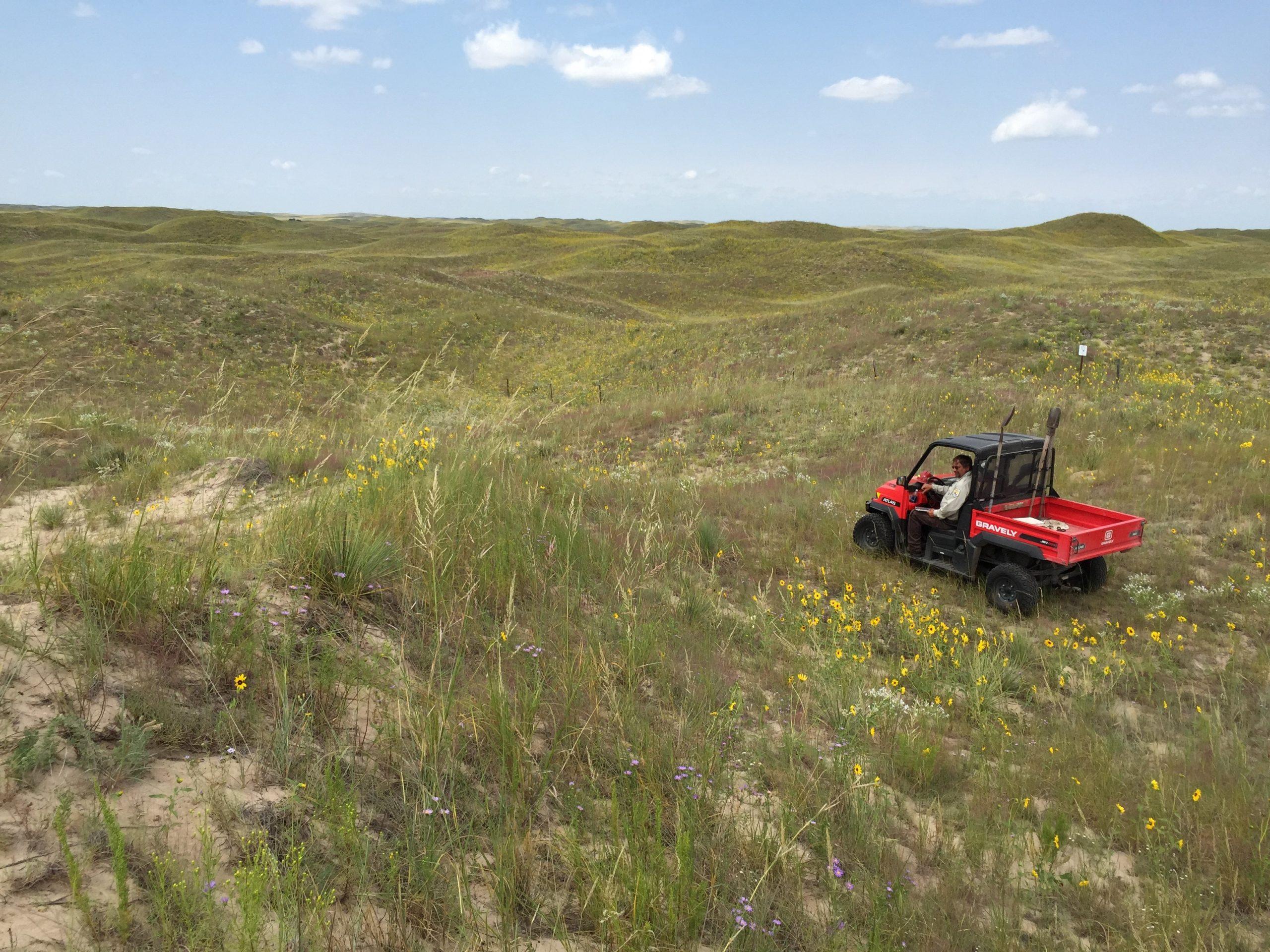 Image of Lauritzen Gardens team in the Nebraska Sandhills