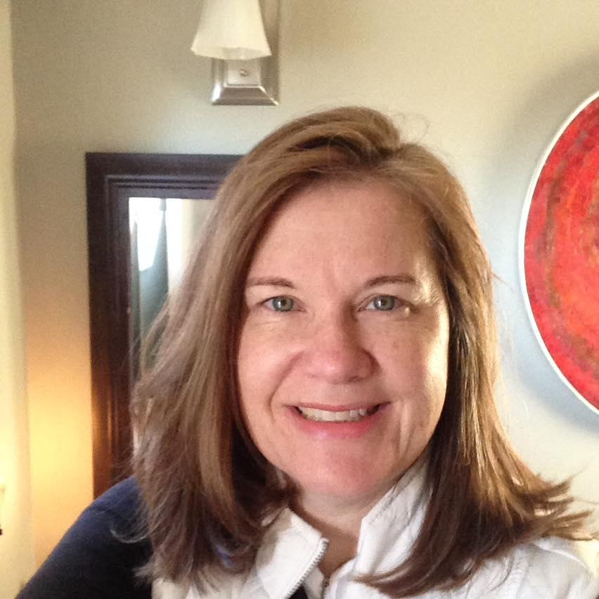 A close-framed selfie of Patricia De Angelis.